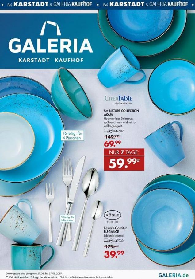 Angebote der Woche . Galeria Kaufhof (2019-08-27-2019-08-27)