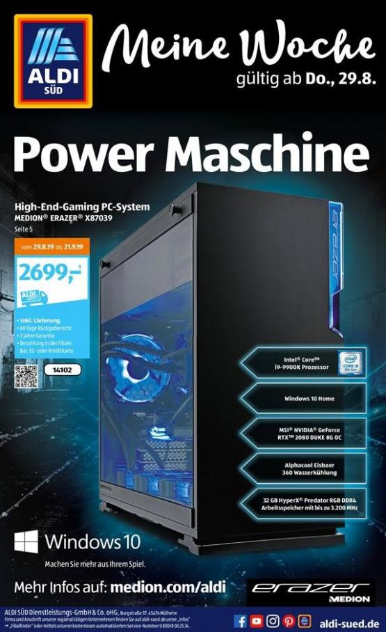 Power Maschine . Aldi Süd (2019-08-31-2019-08-31)