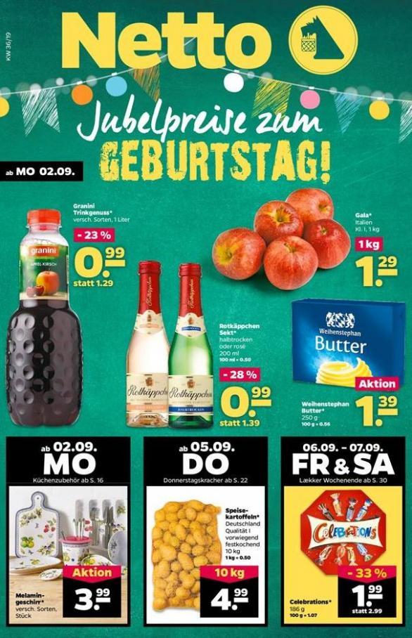 Jubelpreise zum GEBURTSTAG! . Netto (2019-09-07-2019-09-07)