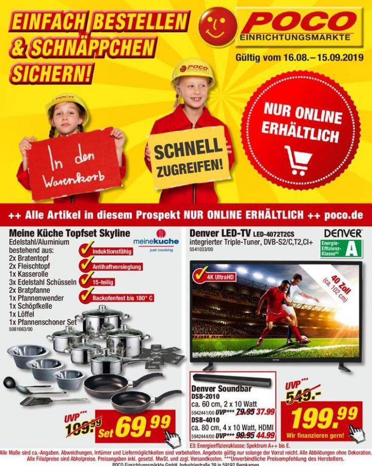 Einfach Bestellen & Schnäppchen Sichern! . Poco (2019-09-15-2019-09-15)