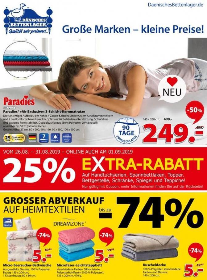 Große Marken - kleine Preise! . Dänisches Bettenlager (2019-08-31-2019-08-31)
