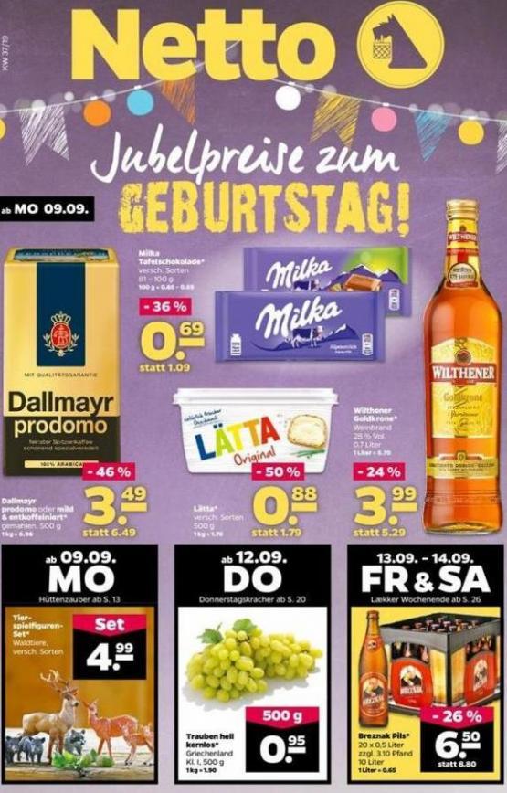 Jubelpreise zum GEBURTSTAG! . Netto (2019-09-14-2019-09-14)