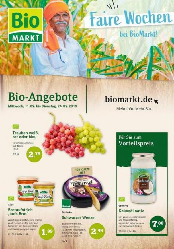 Bio-Angebote . BioMarkt (2019-09-24-2019-09-24)