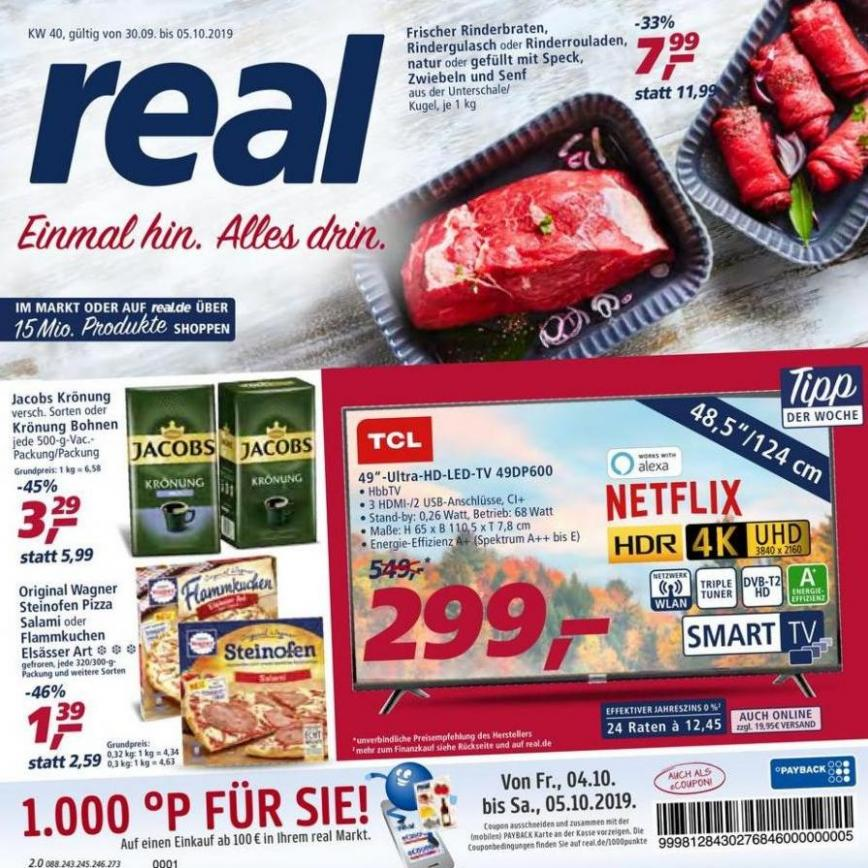 Prospekt Woche 40 . real (2019-10-05-2019-10-05)