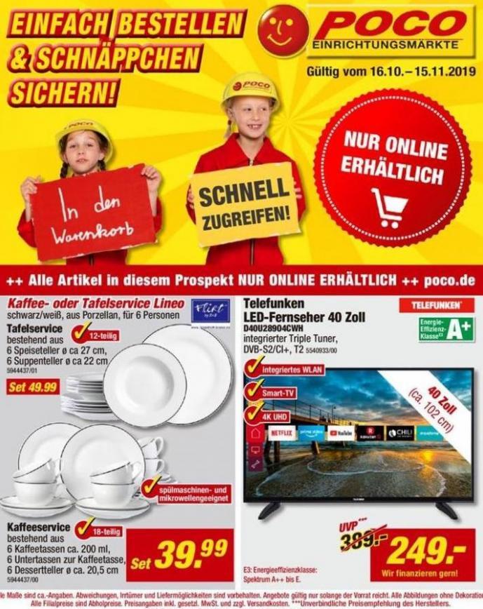 Einfach Bestellen & Schnäppchen Sichern! . Poco (2019-11-15-2019-11-15)