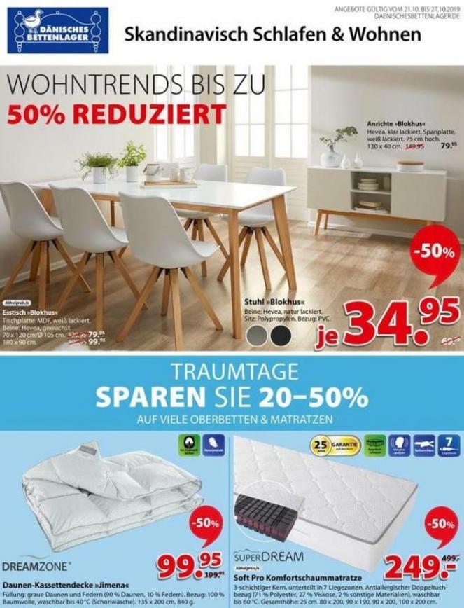 Wohntrends bis zu 50% Reduziert . Dänisches Bettenlager (2019-10-27-2019-10-27)