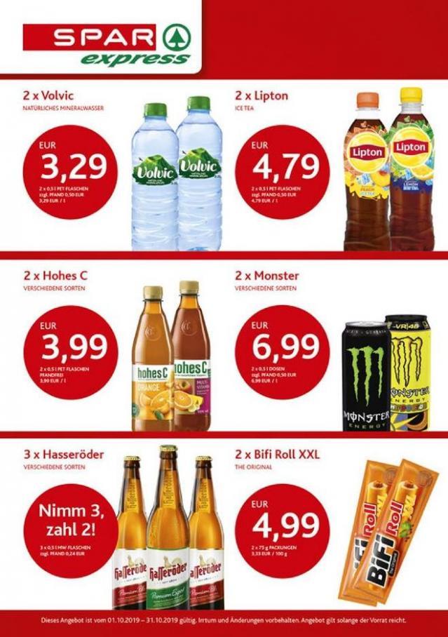 Angebote des Monats . Spar express (2019-10-31-2019-10-31)