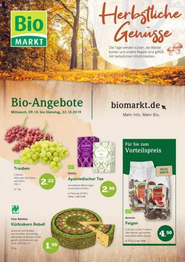 Herbstliche Genisse . BioMarkt (2019-10-22-2019-10-22)