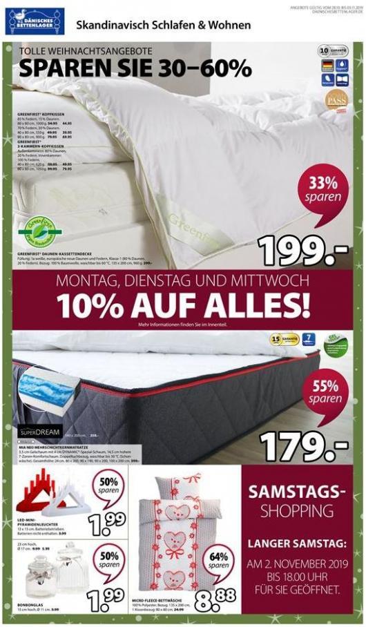 Tolle Weihnachtsangebote Saparen sie 30-60% . Dänisches Bettenlager (2019-11-03-2019-11-03)