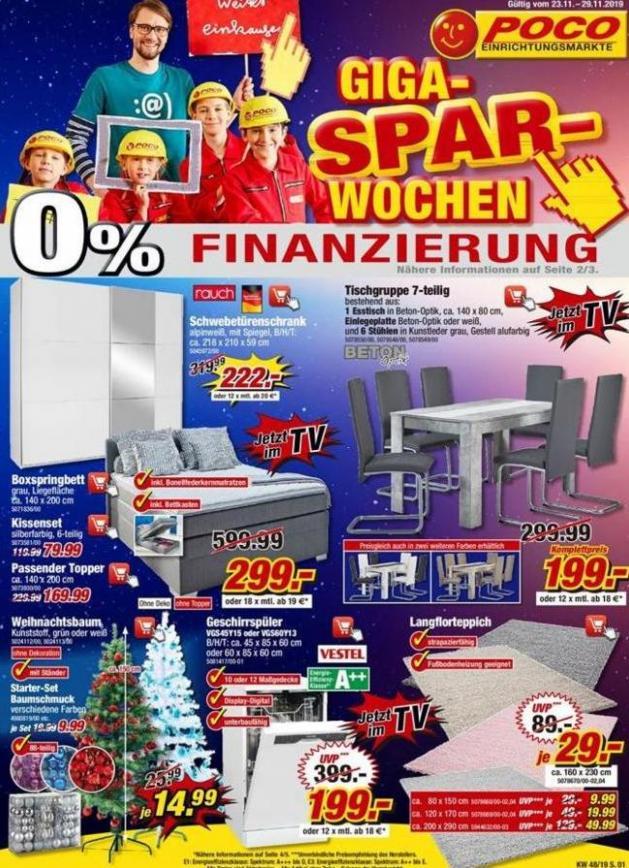 Giga-Spar-Wochen . Poco (2019-11-29-2019-11-29)