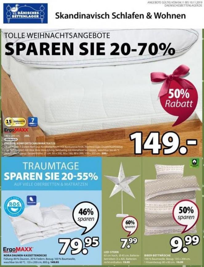 Angebote der Woche . Dänisches Bettenlager (2019-11-10-2019-11-10)