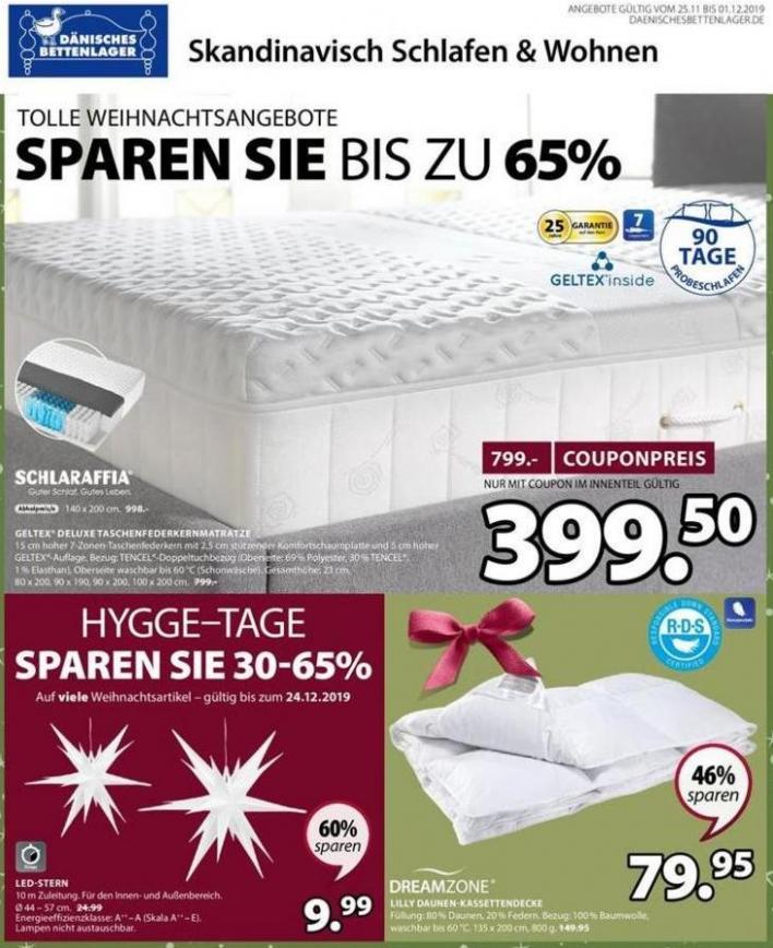 Angebote der Woche . Dänisches Bettenlager (2019-12-01-2019-12-01)