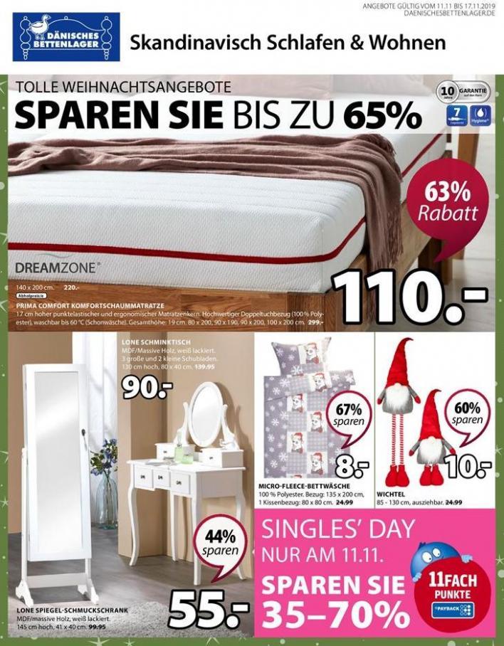 Angebote der Woche . Dänisches Bettenlager (2019-11-17-2019-11-17)