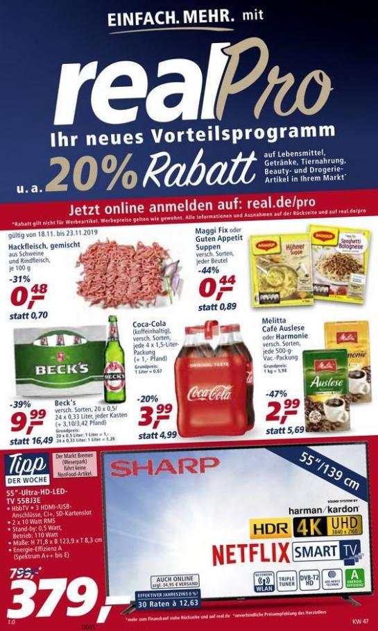 Prospekt Woche 47 . real (2019-11-23-2019-11-23)