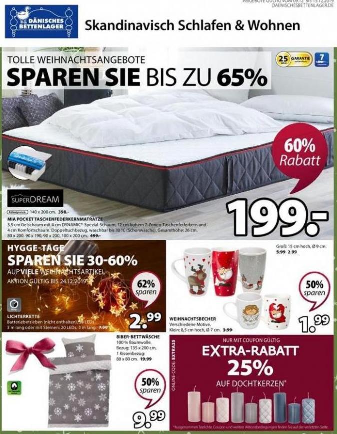 Angebote der Woche . Dänisches Bettenlager (2019-12-15-2019-12-15)