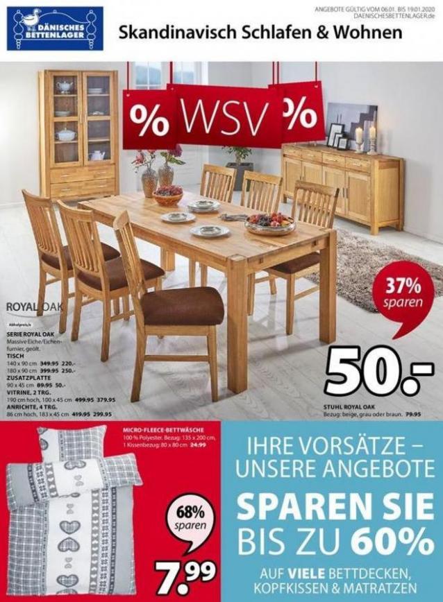 % WSV . Dänisches Bettenlager (2020-01-19-2020-01-19)