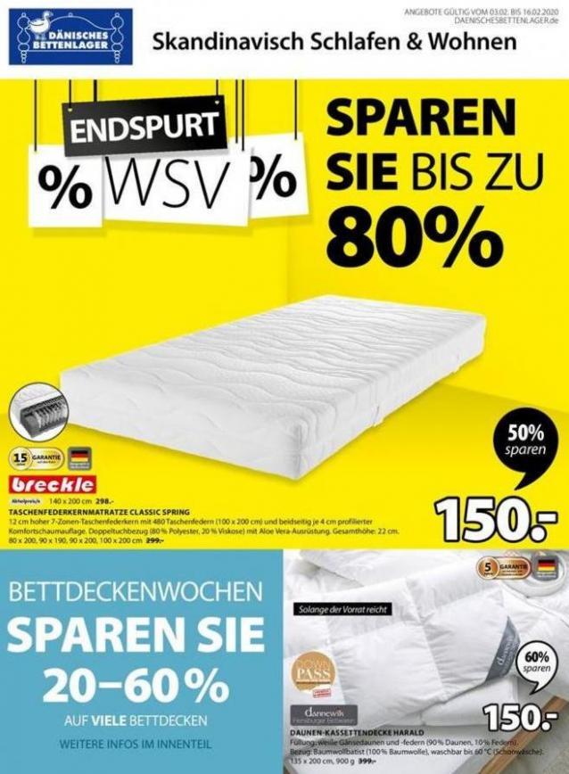 ENDSPURT!! WSV . Dänisches Bettenlager (2020-02-16-2020-02-16)