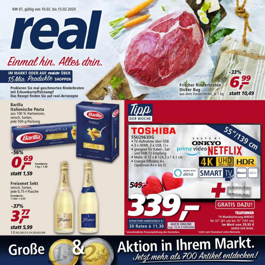 Prospekt Woche 7 . real (2020-02-15-2020-02-15)