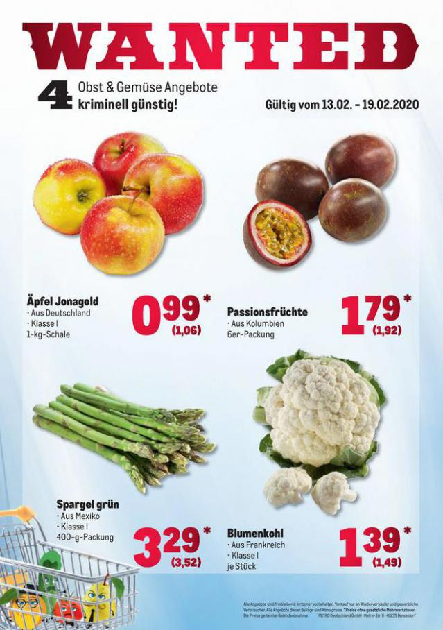 Obst & Gemüse Frischepreise . Metro (2020-02-19-2020-02-19)