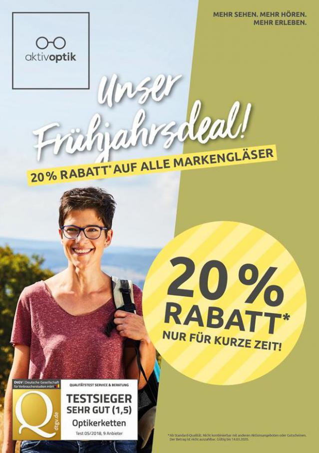 Unser Frühjahrsdeal! . Aktiv Optik (2020-03-14-2020-03-14)