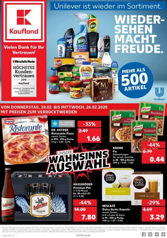 Angebote Kaufland . Kaufland (2020-02-26-2020-02-26)
