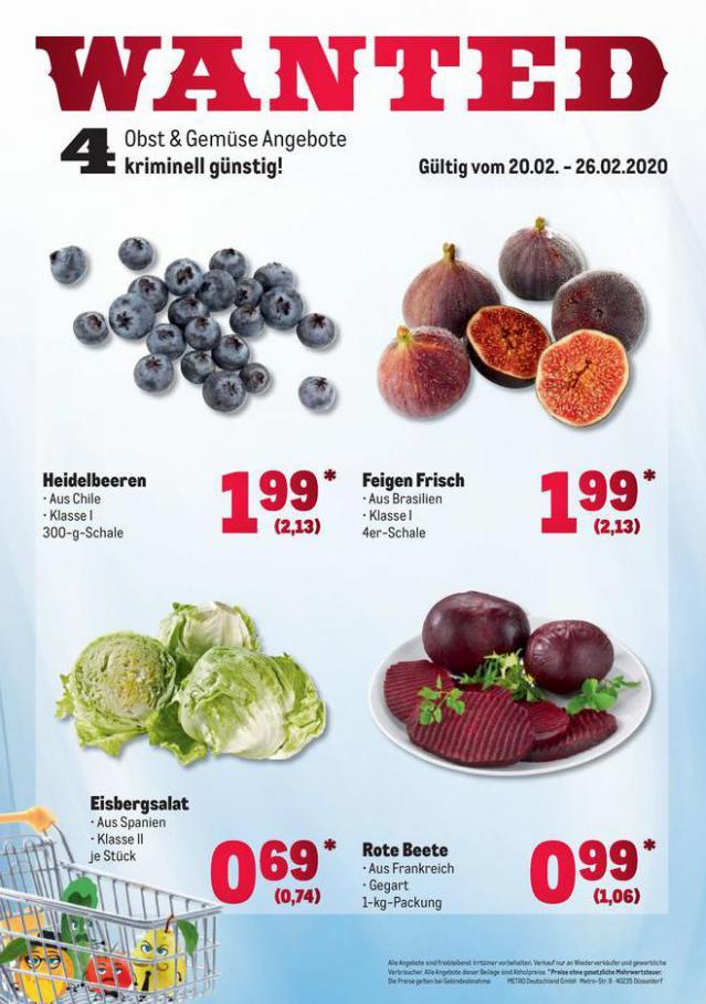 Obst & Gemüse Frischepreise . Metro (2020-02-26-2020-02-26)
