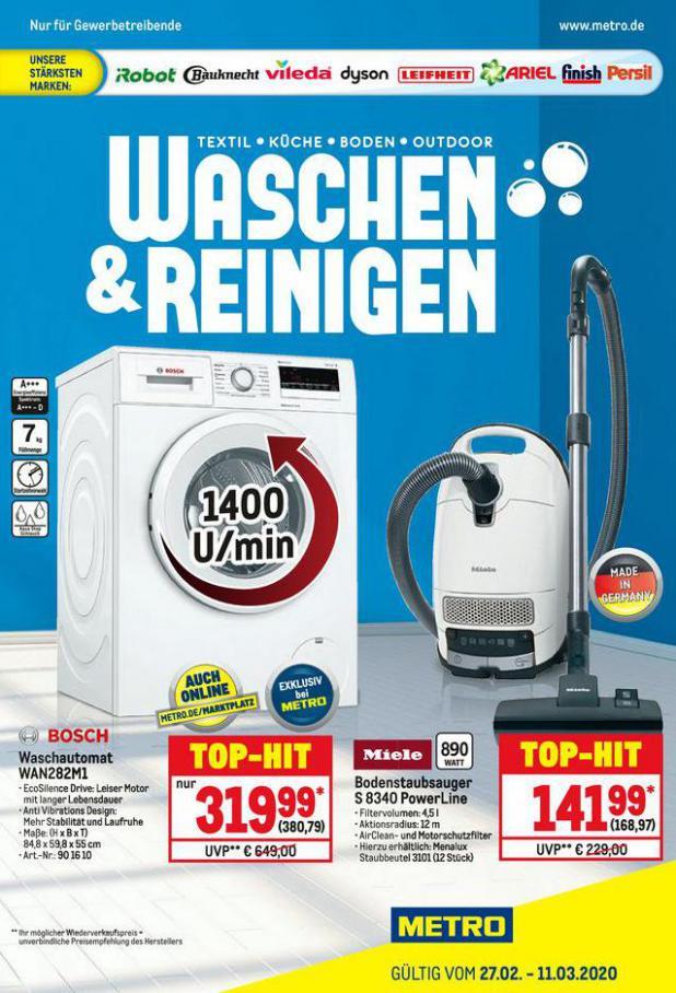 Waschen & Reinigen . Metro (2020-03-11-2020-03-11)