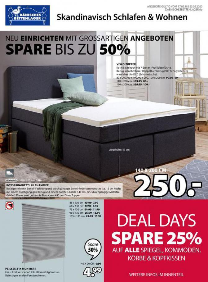 Deal days spare 25% . Dänisches Bettenlager (2020-02-23-2020-02-23)