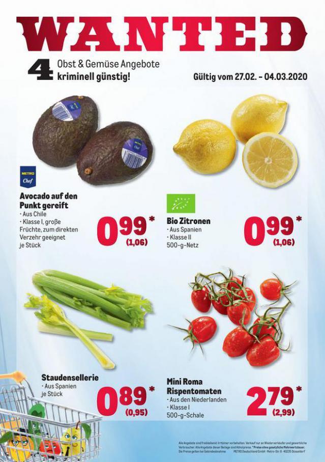 Obst & Gemüse Frischepreise . Metro (2020-03-04-2020-03-04)