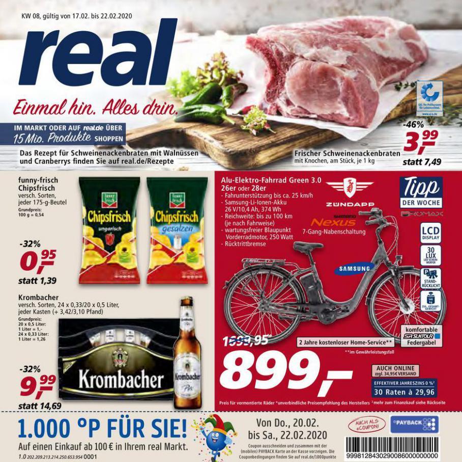 Prospekt Woche 8 . real (2020-02-22-2020-02-22)