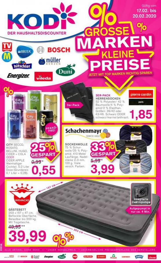 Grosse Marken Kleine Preise . KODi (2020-02-20-2020-02-20)
