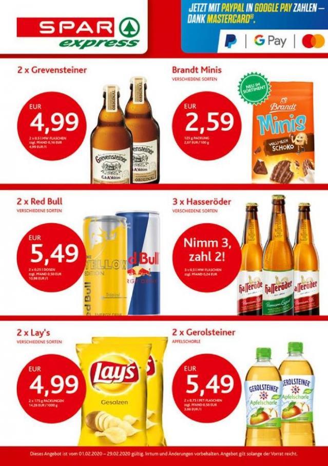 Angebote des Monats! . Spar express (2020-02-29-2020-02-29)