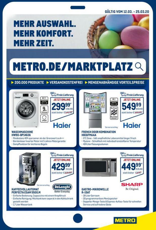 Angebote im Online-Marktplatz . Metro (2020-03-25-2020-03-25)