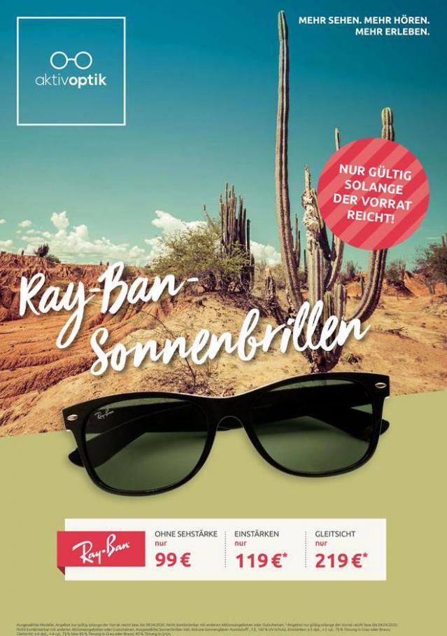 Ray-Ban Sonnenbrillen . Aktiv Optik (2020-04-04-2020-04-04)
