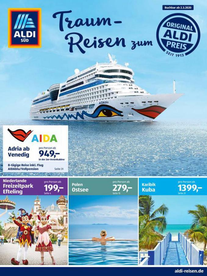 Aldi reisen . Aldi Süd (2020-03-31-2020-03-31)