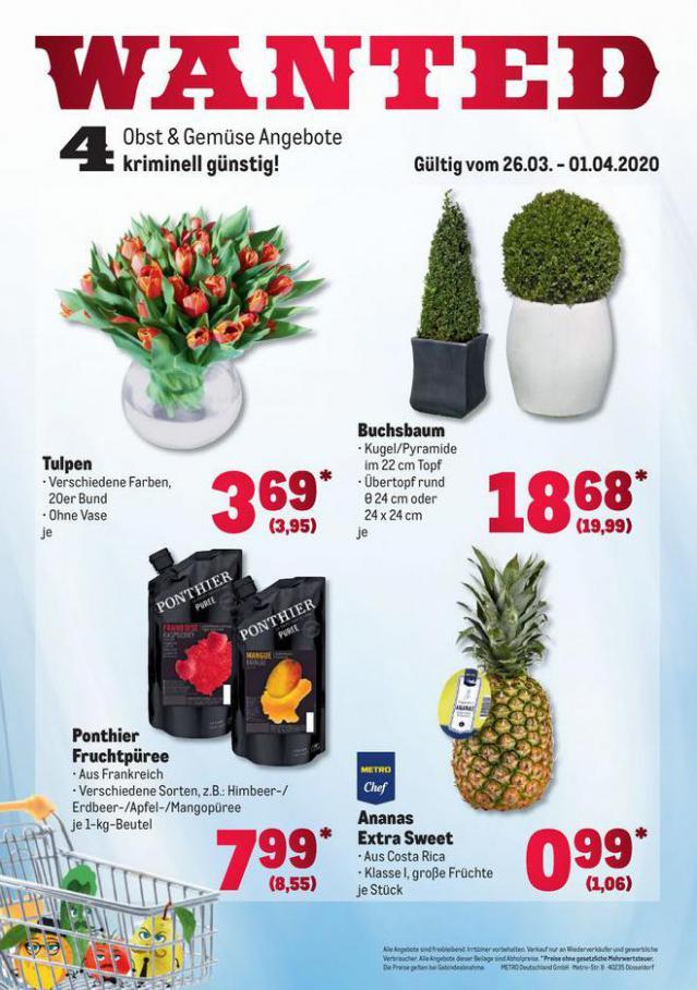 Obst & Gemüse Frischepreise . Metro (2020-04-01-2020-04-01)