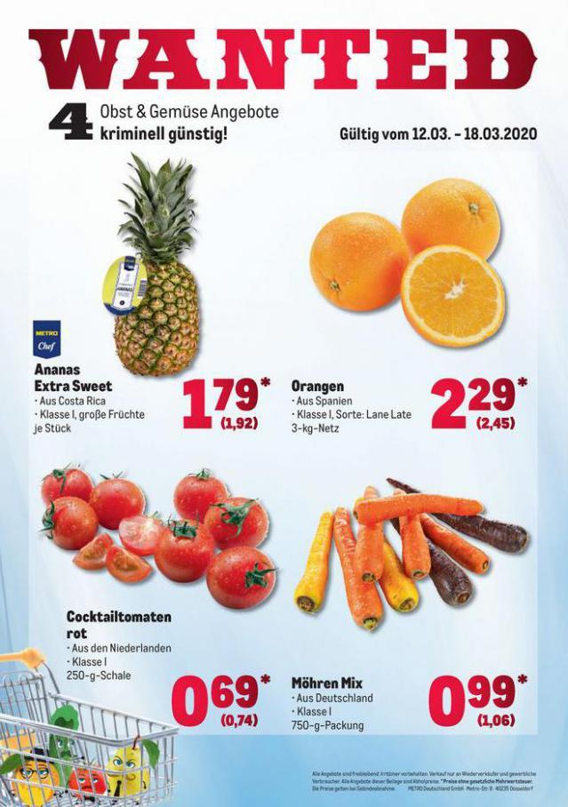 Obst & Gemüse Frischepreise . Metro (2020-03-18-2020-03-18)