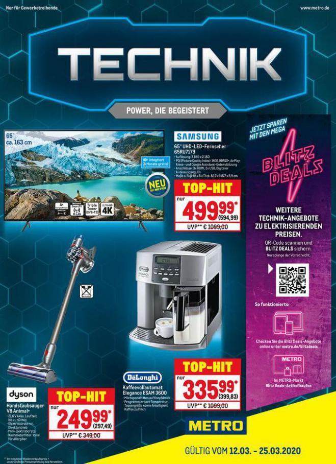 Technik . Metro (2020-03-25-2020-03-25)