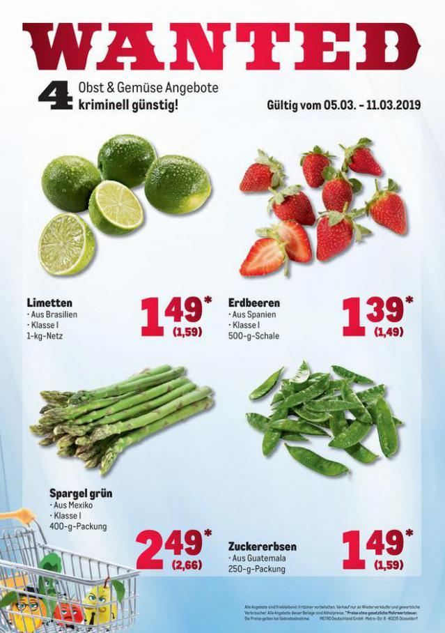 Obst & Gemüse Frischepreise . Metro (2020-03-11-2020-03-11)