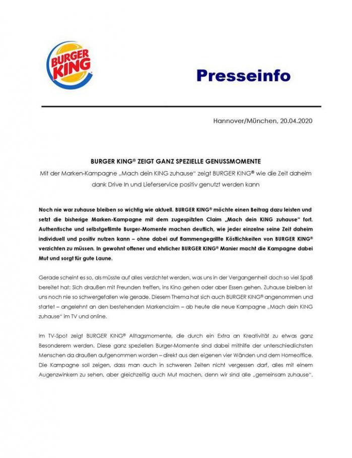 Presseinfo . Burger King (2020-04-30-2020-04-30)