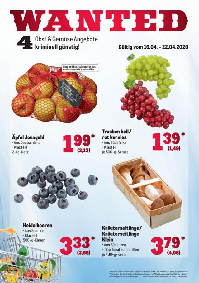 Obst & Gemüse Frischepreise . Metro (2020-04-22-2020-04-22)