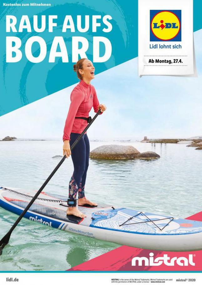 Rauf aufs Board . Lidl (2020-05-03-2020-05-03)