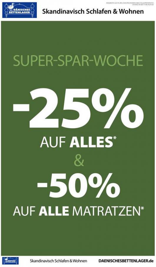 Super-Spar-Woche . Dänisches Bettenlager (2020-05-02-2020-05-02)