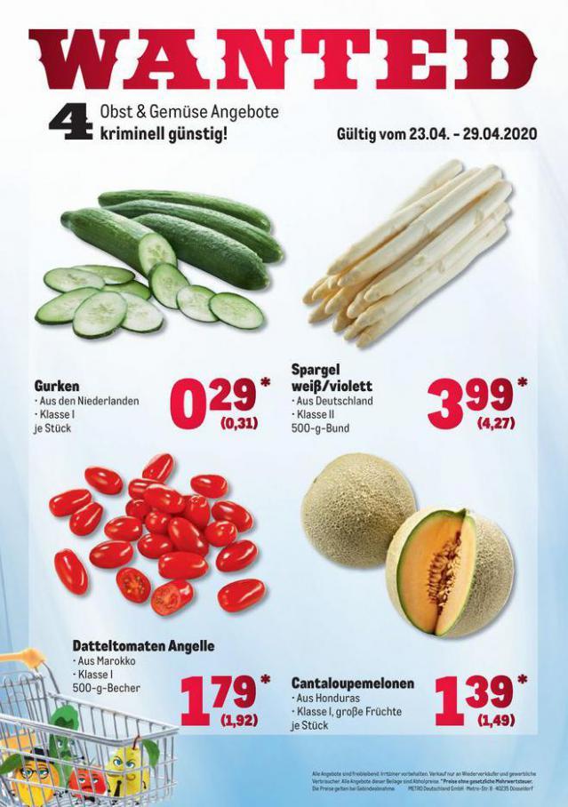 Obst & Gemüse Frischepreise . Metro (2020-04-29-2020-04-29)