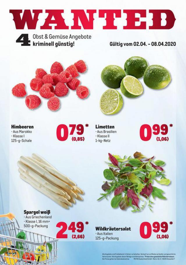 Obst & Gemüse Frischepreise . Metro (2020-04-08-2020-04-08)