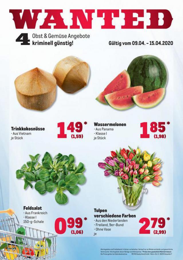 Obst & Gemüse Frischepreise . Metro (2020-04-15-2020-04-15)