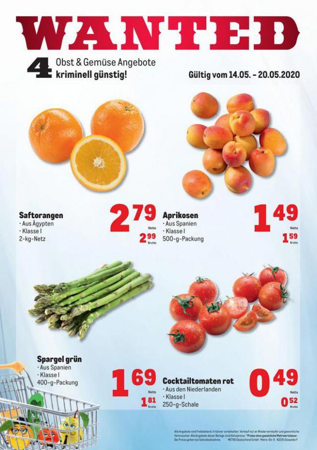 Obst & Gemüse Frischepreise . Metro (2020-05-20-2020-05-20)