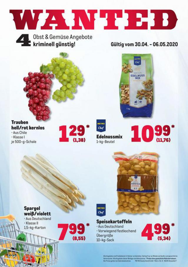 Obst & Gemüse Frischepreise . Metro (2020-05-06-2020-05-06)
