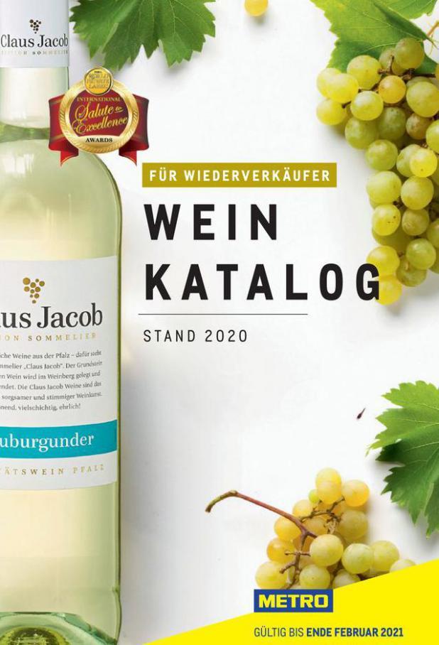 Weinkatalog für Wiederverkäufer . Metro (2020-05-31-2020-05-31)