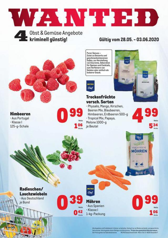 Obst & Gemüse Frischepreise . Metro (2020-06-03-2020-06-03)